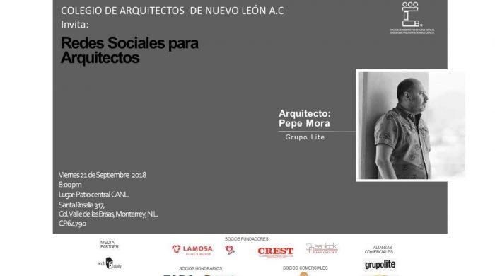 sesion emprendiendo en arquitectura con Pepe Mora sept 21 de 2018